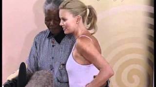 Nelson Mandela meets Charlize Theron