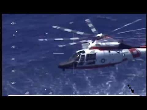 Coast Guard To The Rescue: 8-9-17. MH-65 Dolphin Crew Save Downed NAVY PILOT From Sea.
