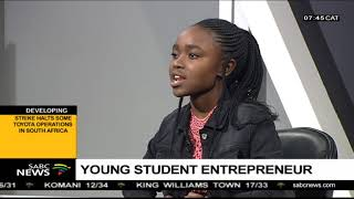 Young student entrepreneur