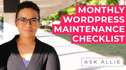 Monthly WordPress Maintenance Checklist