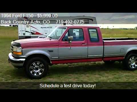1994 Ford F150 Xl Supercab Long Bed 4wd For Sale In