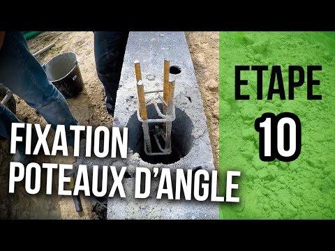 Règle De Fixation De Poteau D Angle Et Béton Etape 10