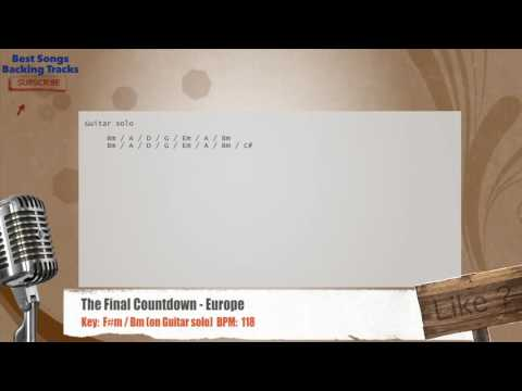 The Final Countdown - Europe Vocal Backing Track with chords and lyrics