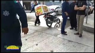 Motociclista impacta contra un auto, Col Obrera, Cd Valles