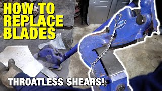 How to Change and Adjust the Blades on Throatless Shears - Eastwood