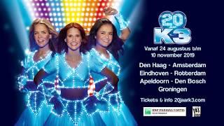 Vier de 20ste verjaardag van K3 tijdens de verjaardagsshow door heel Nederland!