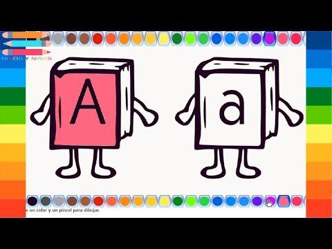 colorear-y-pintar-dibujos-letra-a-|-dibujos-para-colorear-la-letra-a-|-abecedario-para-niños