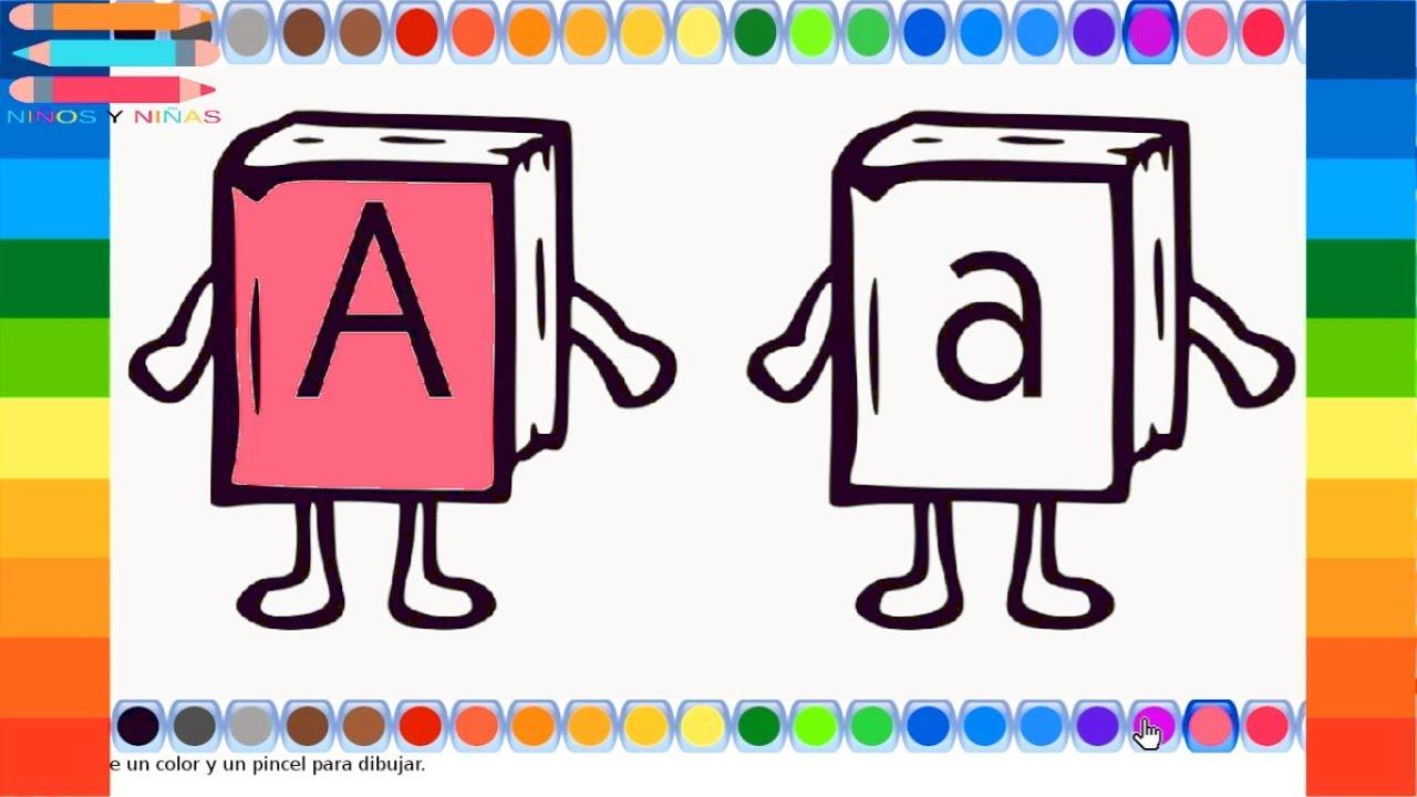 Colorear y pintar dibujos Letra A | dibujos para colorear la letra a ...