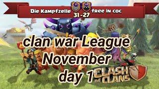 Die Kampfzelle vs free in coc   War League November Recaps   champions League 3   COC clash of clans