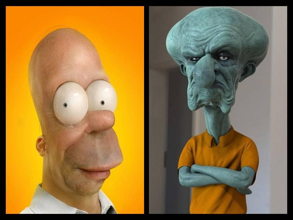 E se os personagens de desenhos animados fossem reais  - YouTube 9f1d0ce194