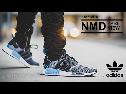 Adidas Nmd R1 Grey Blue