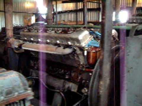 Old School Russian Triple Drilling Rig Mud Pump Engines