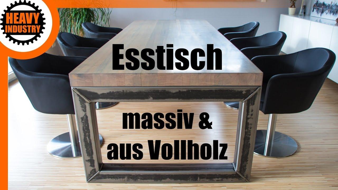 Massiven Tisch Aus Vollholz Selber Bauen ├ Anleitung ┤