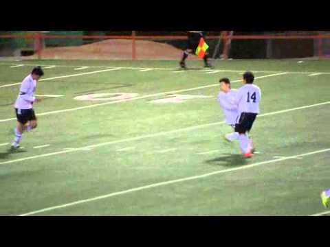 02-08-13 Victor R Vazquez, #3, scores for El Paso High Tigers Soccer.wmv