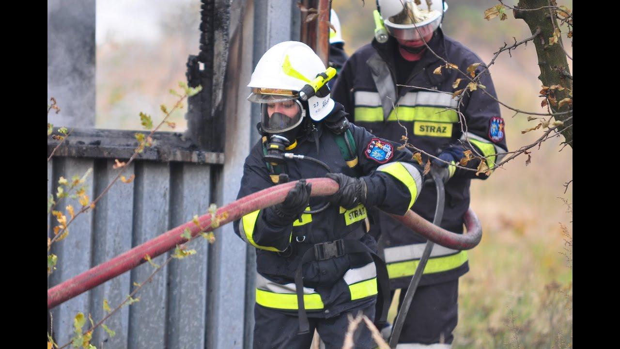Pożar baraku w Pstrążnej – 27 października 2016