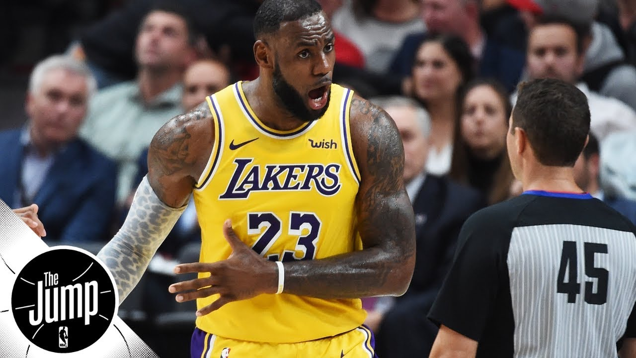 Are refs treating LeBron James, Lakers unfairly? | The ... Lebron James Yelling Vs Lakers