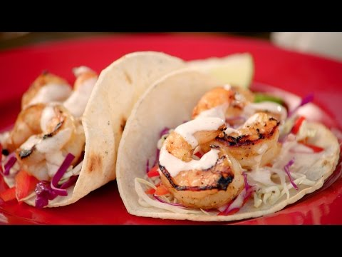 Grill Like a Pro! Lime-Grilled Shrimp Tacos with Chipotle Crema