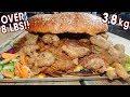 """Undefeated """"Big Nasty"""" Burger Challenge w/ Pulled Chicken & Pork!!"""