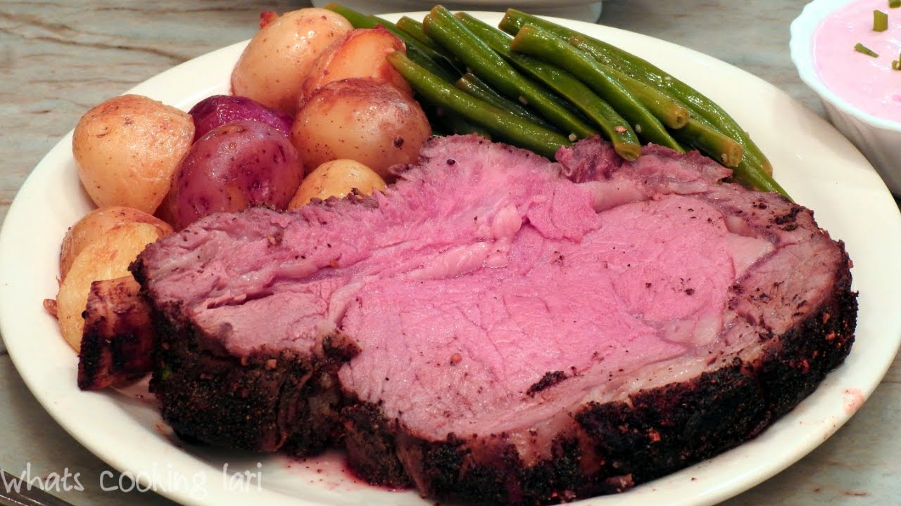 How To Perfectly Cook A Prime Rib Roast By Whats Cooking Lari Youtube