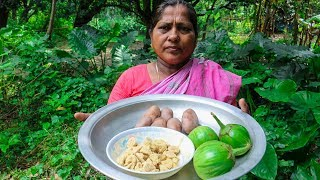 Vegetable Recipe: Potatoes, Eggplant & Bori Cooking by Village Food Life