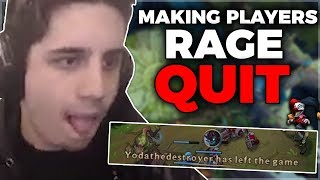 MAKING PLAYERS RAGE QUIT ft. SHACO