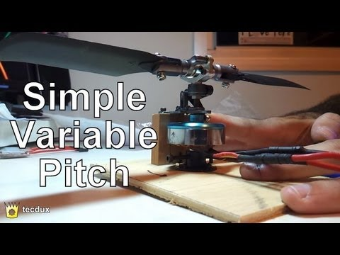 Diy Simple Variable Pitch For Brushless Motor Youtube