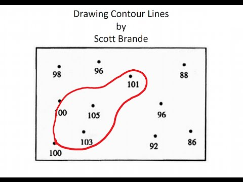 How To Draw Contour Lines On A Map Youtube