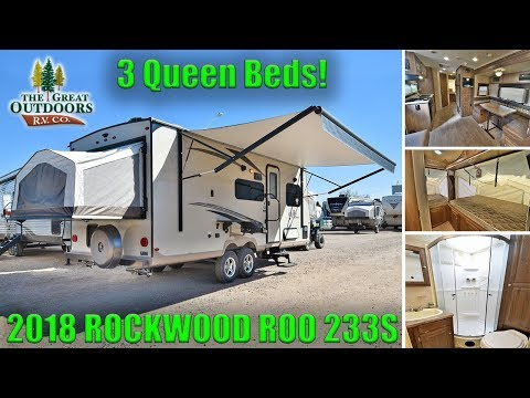 New Hybrid 2018 ROCKWOOD ROO 233S Tip Out Beds Travel Trailer RV Camper Colorado