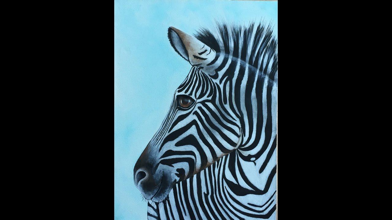 Pintar cuadros pintar cebra pintar en acrilico youtube - Pintar con acrilicos paso a paso ...