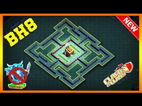 NEW Builder Hall 8 Base Layout With Replay 2019 | BH8 SYMMETRICAL Base In COC | Clash Of Clans