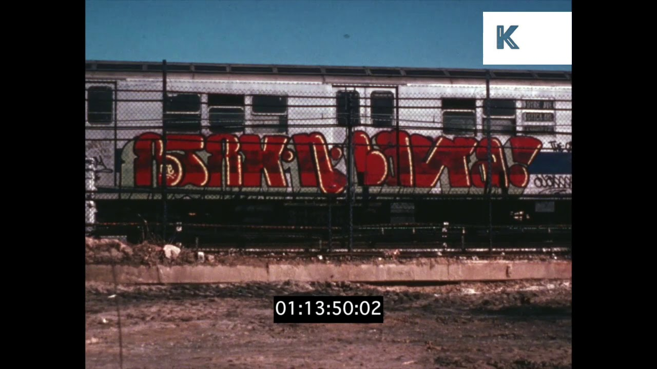 Gritty new york graffiti 1970s in hd from 35mm