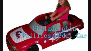 Officially licensed MLB kids pedal cars for little MLB fans