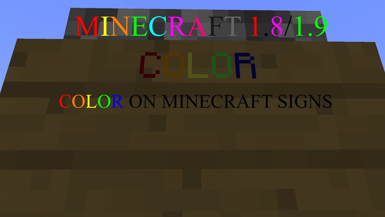 Minecraft How To Text Colored Signs18819multiplayer Only