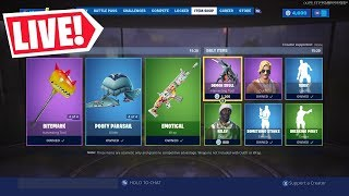 🔴 *NEW ITEM SHOP RESET AUGUST 5TH NEW SKINS (FORTNITE SEASON X LIVE)