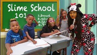 Super Siah Goes To SLIME SCHOOL With Panton Kids