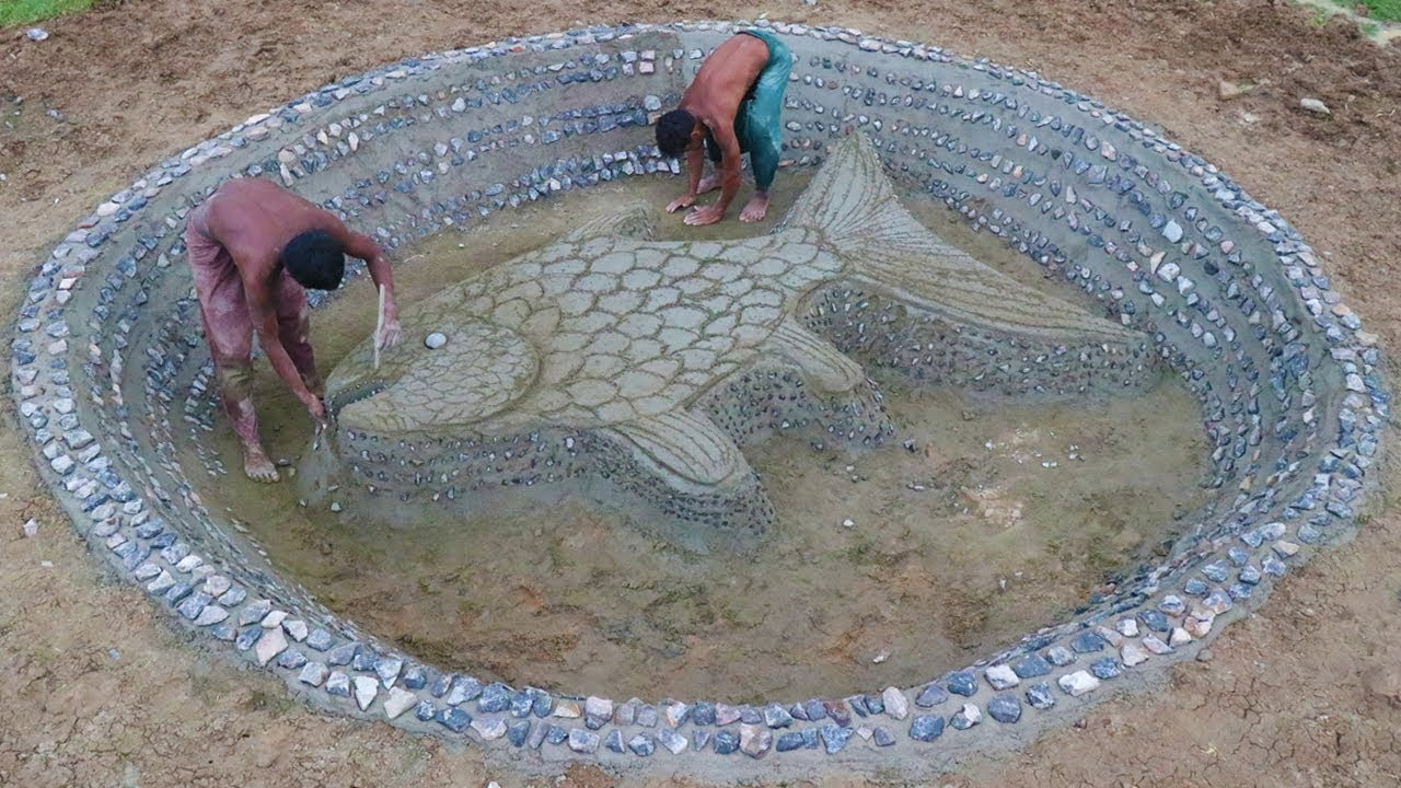 Build Stone Fish Pond Part 1