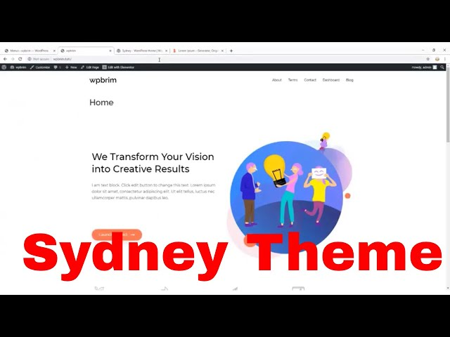 Sydney theme | WordPress Sydney theme Review Tutorial 2019