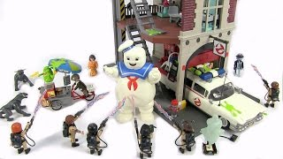 New Full Set Ghostbusters Playmobil Toys   Ecto 1, Fire House, Slimer And Stay Puff
