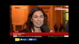 20/11/2013 M5S Giulia Sarti su sfiducia alla Cancellieri a SkyTG24