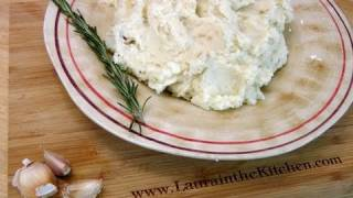 How To Make Roasted Garlic Mashed Potatoes - By Laura Vitale - Laura In The Kitchen Ep 94