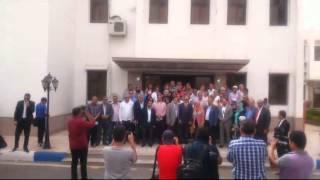 قيادات الاهرام وجمعية خريجى الاعلام وغرفة السياحة مع الفريق مميش مايو2015