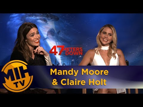 Mandy Moore & Claire Holt 47 Meters Down Interview