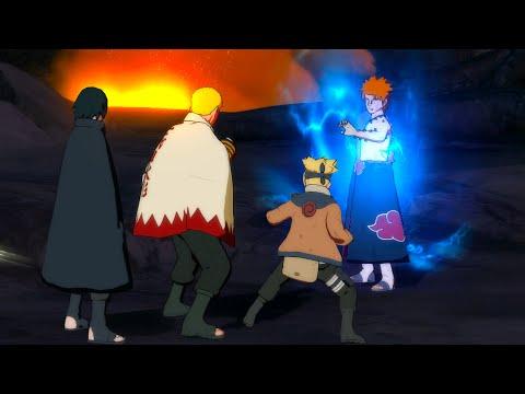 Pain Rikudo Vs  Boruto, Naruto & Sasuke Gameplay - Naruto Storm 4 Mod (4K 60fps)  