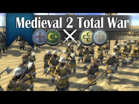 Shifting Sands - Medieval 2 Total War (2v2 Online Battle #252)