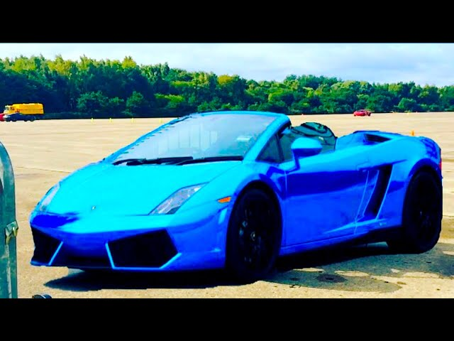 16 Year old Driving a Blue Chrome Lamborghini Gallardo
