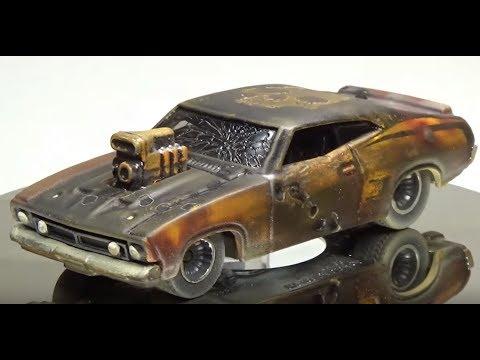 Mad Max / Gas Lands Custom Hot Wheels 73 Ford Falcon XB