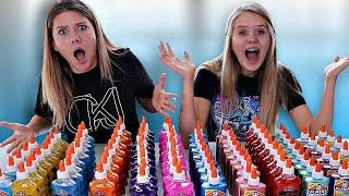 100 Bottles of Glue Slime Challenge || Taylor \u0026 Vanessa