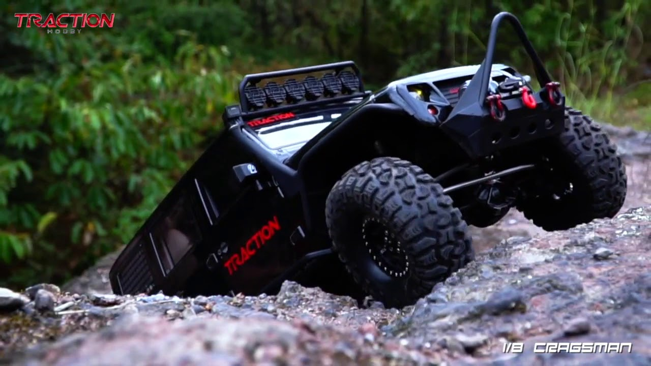Traction Hobby 1 8 Scale Trail Rc Crawler Cragsman Performance Show Youtube