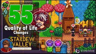 55 Quality of Life Upgrades with Stardew Valley 1.4 Update Showcase | Better Interface and Gameplay