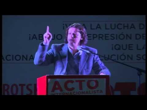 Christian Castillo en el Acto Internacionalista organizado por el PTS en el Frente de Izquierda